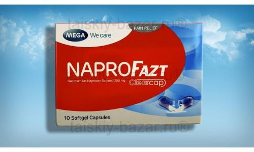 Капсулы NaproFazt для снятия боли и воспаления при подагре, артритах, лихорадке