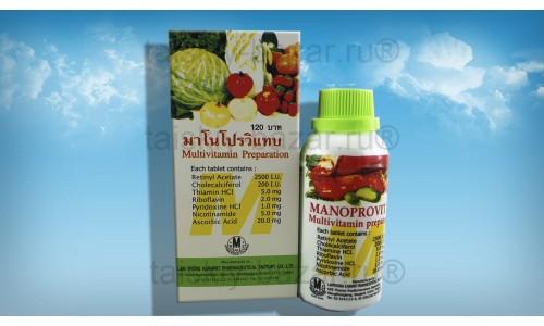 Поливитаминный комплекс Manoprovitab для детей и взрослых