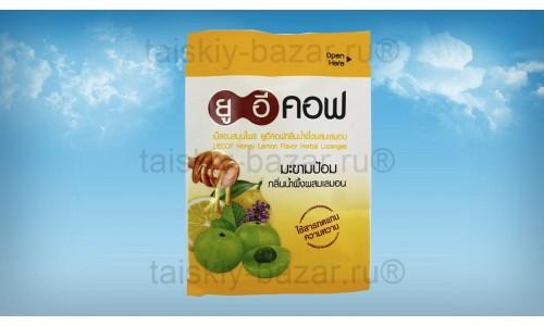 Тайские аюрведические таблетки от кашля UECOF с медом, лимоном и эмбликой