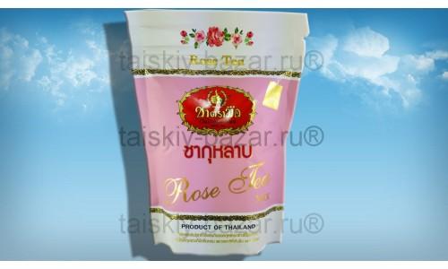 Тайский зеленый чай с лепестками розы
