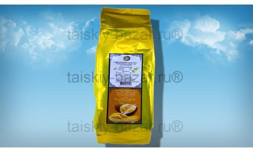 Зеленый ароматизированный чай с королем тайских фруктов Дурианом 100 грамм