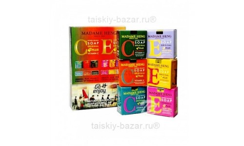 Мыло Мадам Хенг с витаминами Е и С: Набор из 6 сортов мыла