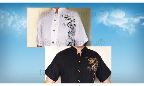 Льняные мужские рубашки из Тайланда