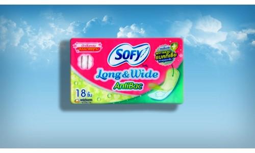Антибактериальные гигиенические прокладки - ежедневки Sofy AntiBac 18 шт