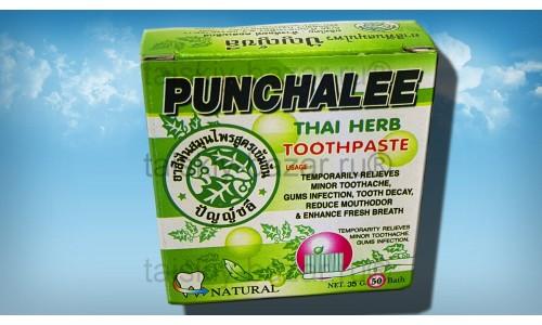 Органическая твердая тайская зубная паста Пунчали