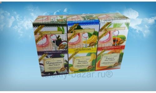 Набор из 12 круглых тайских зубных паст, разные вкусы!