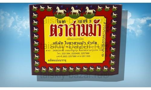 Тайский черный чай №3 бренд Три Лошади