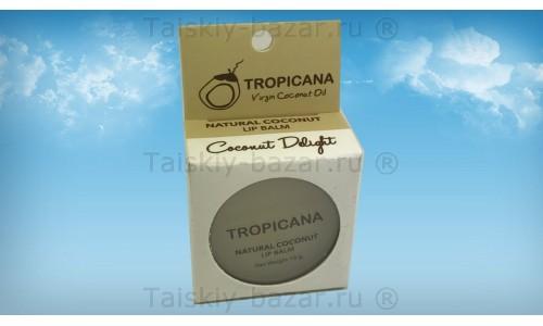 Натуральный бальзам для губ с кокосом Тропикана