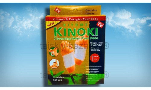 Детоксикационный пластырь Kinoki с имбирем и солью – очищение и энергия для Вашего тела