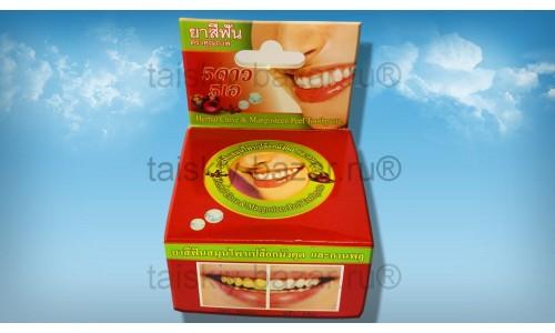 Тайская круглая зубная паста «Мангостин»
