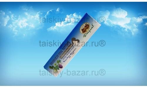 Коричневая травяная зубная паста с мангостином Абхай 100 грамм