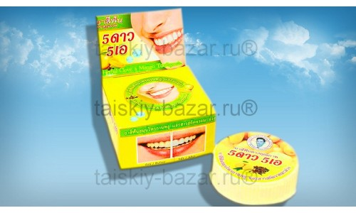 Тайская круглая зубная паста «Манго»